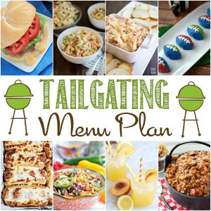Football Tailgating Menu Plan Ideas