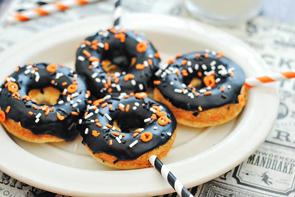 Baked Halloween Cake Mix Donuts Recipe