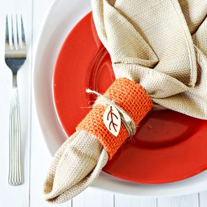 Easy DIY Thanksgiving Napkin Rings
