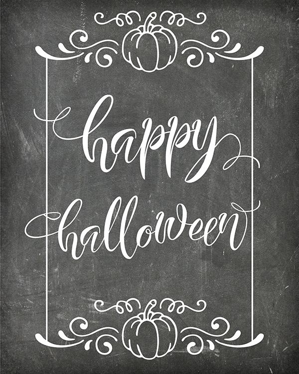 "Free Printable ""Happy Halloween"" Chalkboard Art"