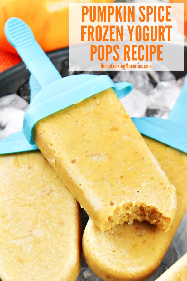 Pumpkin Spice Frozen Yogurt Pops Recipe