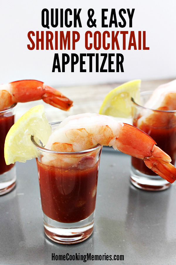 This Quick & Easy Shrimp Cocktail Appetizer Recipe is not only simple to make, but it's also delicious and low in fat and calories. Elegant enough for more formal gatherings, but also a favorite at casual parties or for game day.