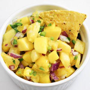 Pineapple Mango Fruit Salsa Recipe