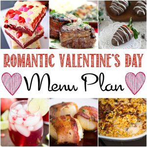 Romantic Valentine's Day Dinner at Home Menu Plan Ideas