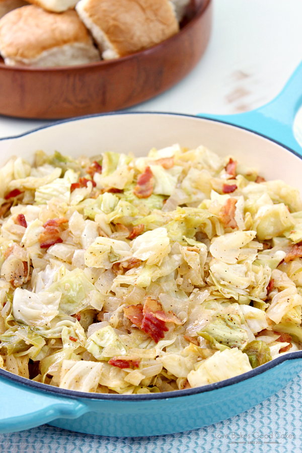 Southern Bacon-Fried Cabbage Recipe by Love Bakes Good Cakes