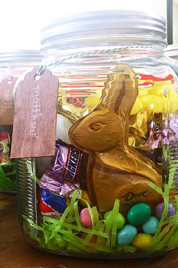 Easter Basket Jars