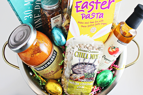 Easy Dinner Easter Basket Idea for Young Adult