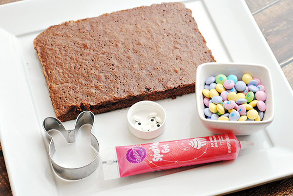 Homemade Brownie Easter Bunnies Recipe Ingredients & Supplies