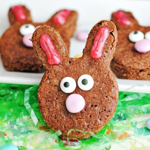 Homemade Brownie Easter Bunnies Recipe
