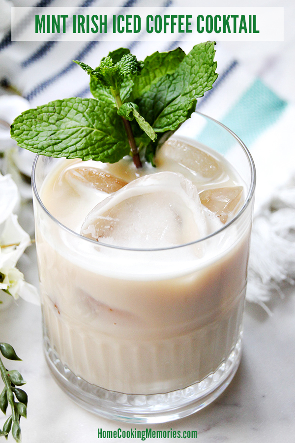 Mint Irish Iced Coffee Cocktail Recipe