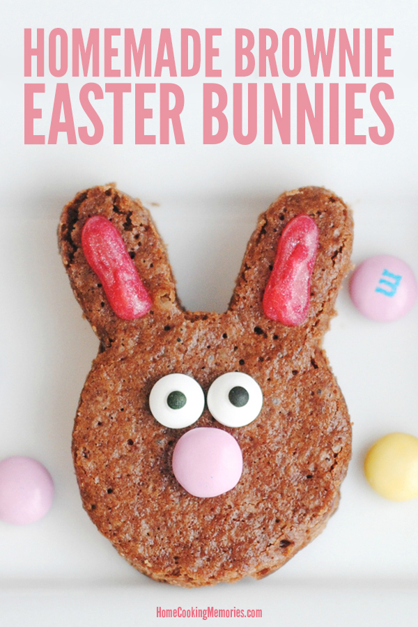 Make this easy Easter treat with the kids: Homemade Brownie Easter Bunnies recipe! These bunny faces are made with our homemade brownie recipe, plus a few sweet details to complete the look.