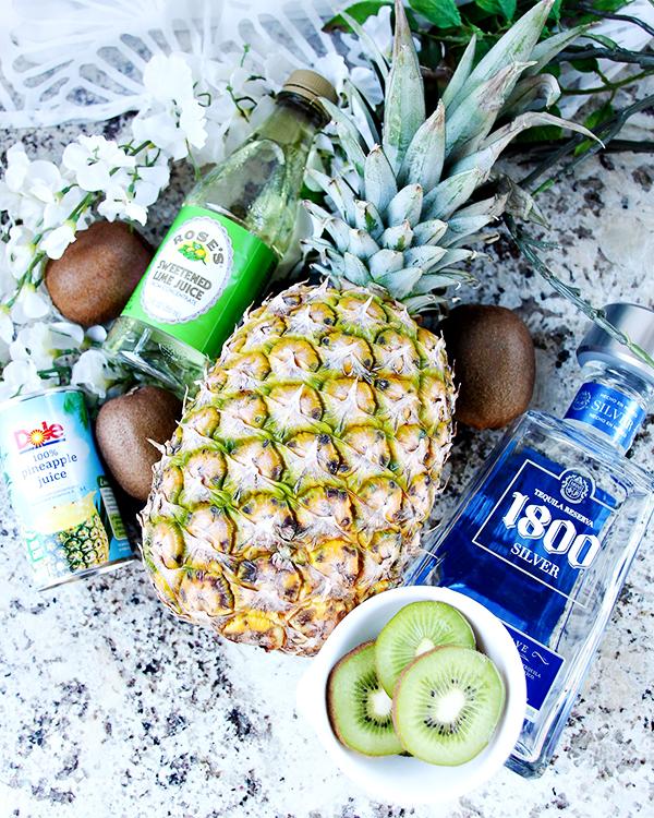 Pineapple Kiwi Margarita Recipe Ingredients