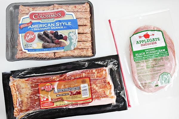 Bacon, Sausage, and Ham Breakfast Casserole Recipe