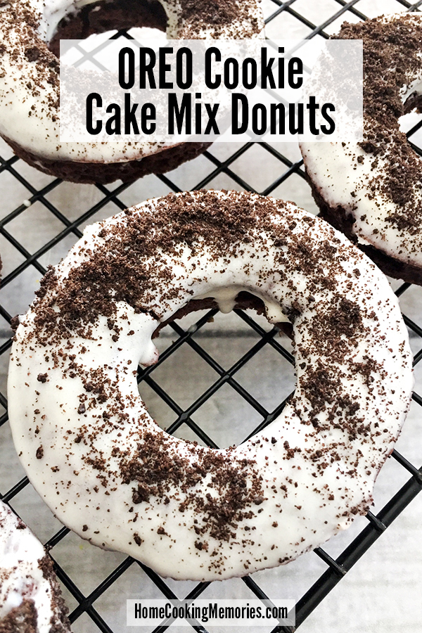 This OREO Cake Mix Donuts Recipe is a must for OREO cookie fans! These baked donuts are easy to make with boxed cake mix. They're even topped with an OREO filling frosting.