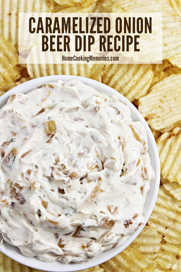 This Caramelized Onion-Beer Dip recipe features a creamy base of cream cheese and mayonnaise with the addition of sweet caramelized onions and the flavor of your favorite beer.