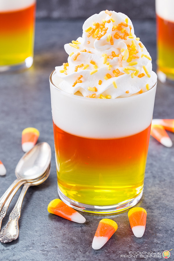 Candy Corn Jello by Cooking on the Front Burners