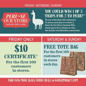 Cost Plus World Market Black Friday Deals and Giveaways
