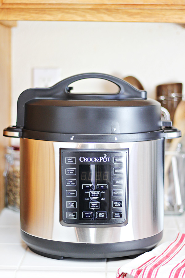Crock-Pot Express Crock Multi-Cooker on kitchen counter