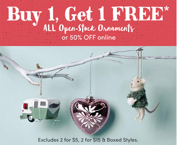 World Market Black Friday BOGO ORNAMENTS