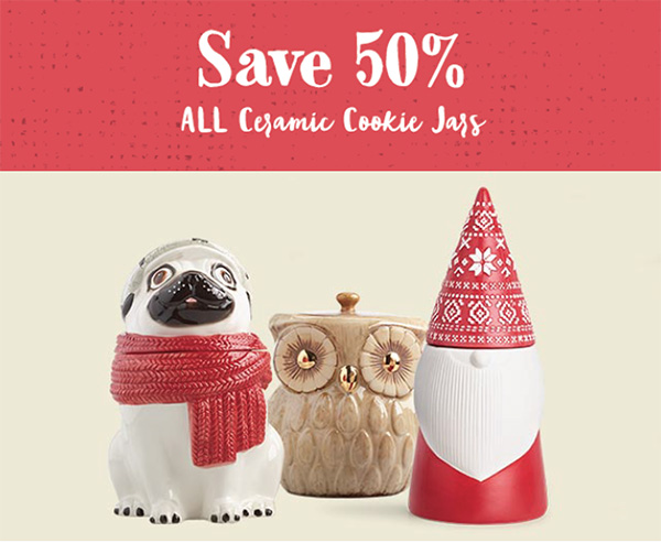 World Market Black Friday SAVE 50% CERAMIC COOKIE JARS
