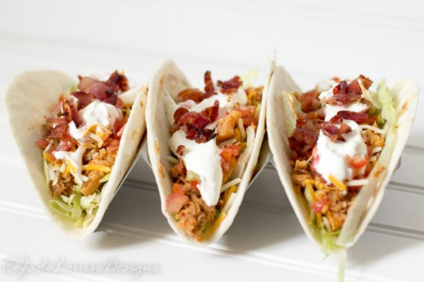 Easy Bacon BBQ Chicken Tacos Recipe by Busy Creating Memories