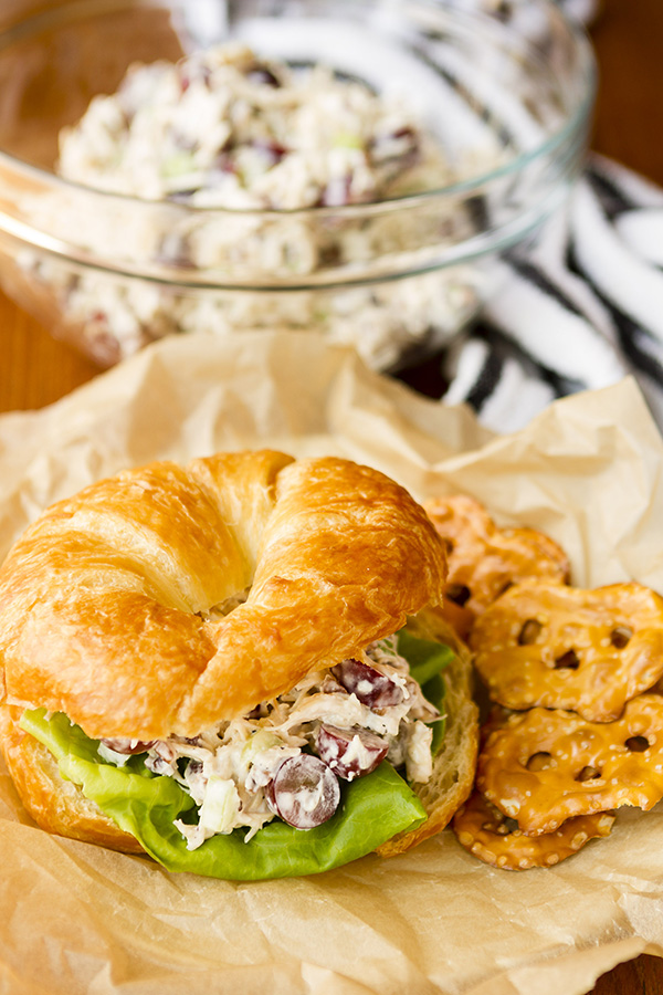 Easy Chicken Salad with Grapes and Roasted Pecans by Unsophisticook