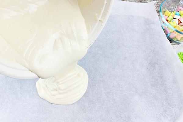 Lucky Charms Marshmallows White Chocolate Bark Recipe