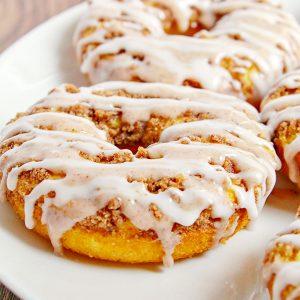 Glazed Cinnamon Bun Baked Donuts Recipe