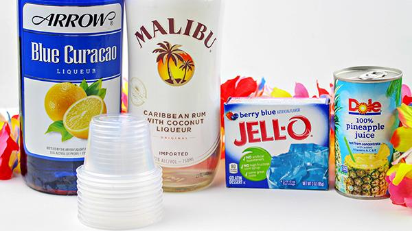 Blue Hawaiian Jello Shots Recipe Ingredients
