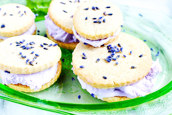Lavender Ice Cream Sandwiches Recipe
