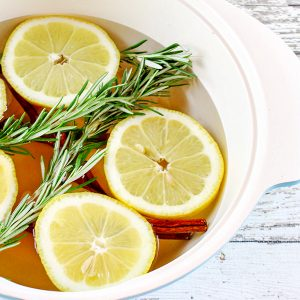 Fresh Lemon and Rosemary Stovetop Potpourri Recipe