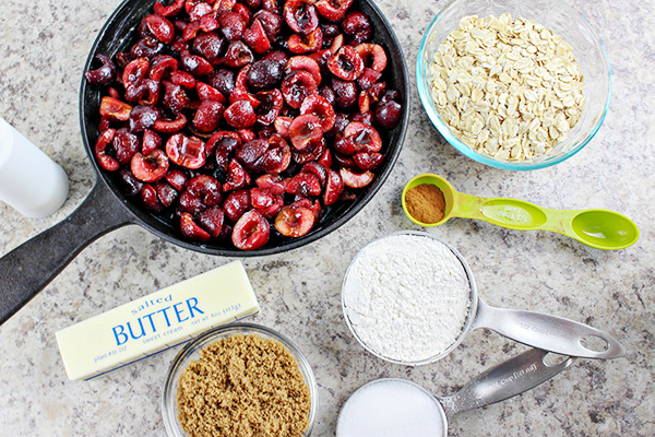 Cast Iron Skillet Bing Cherry Crumble Recipe