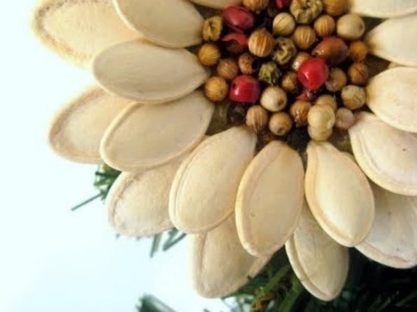 natural pumpkin seed flower