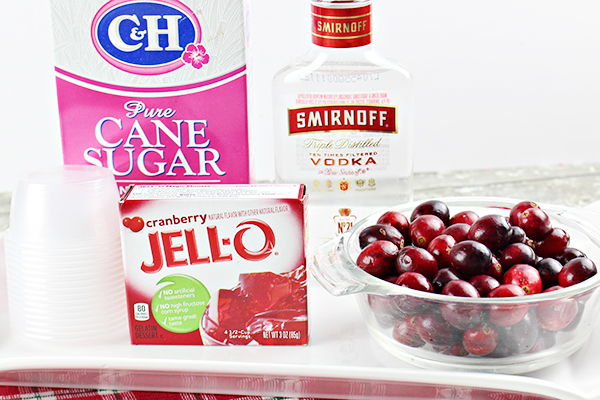 Cranberry Jello Shot Recipe Ingredients