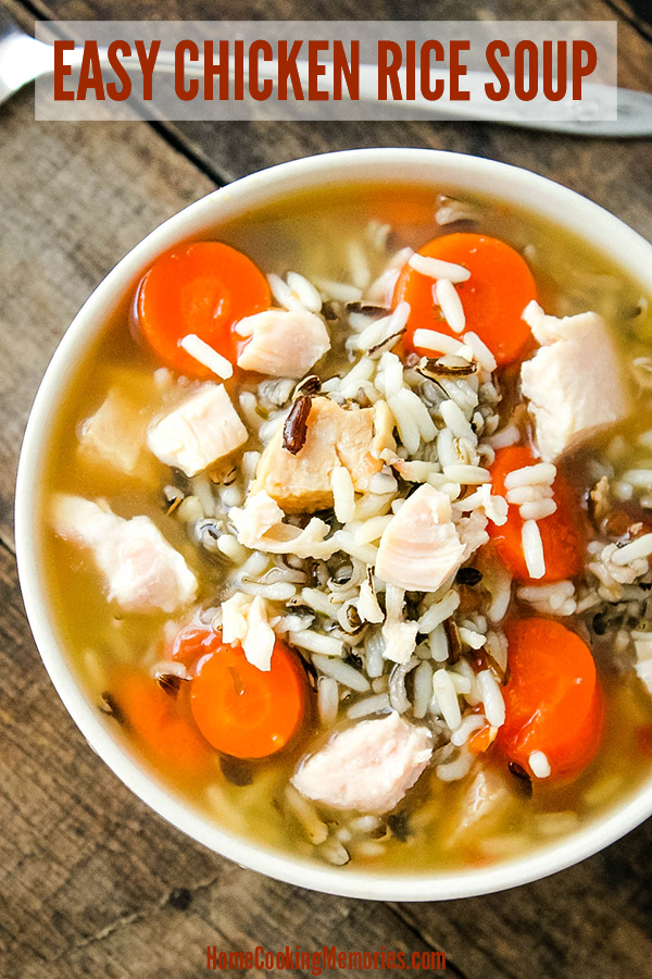 Easy Chicken Rice Soup Recipe
