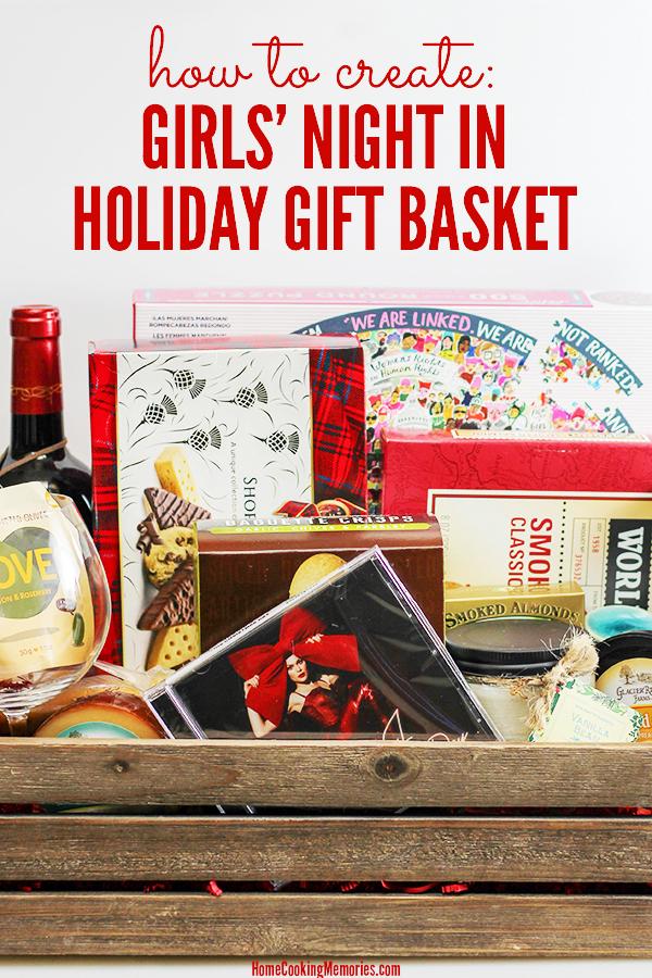 Girls Night Holiday Gift Basket Ideas