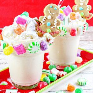Gingerbread House Milkshakes Recipe
