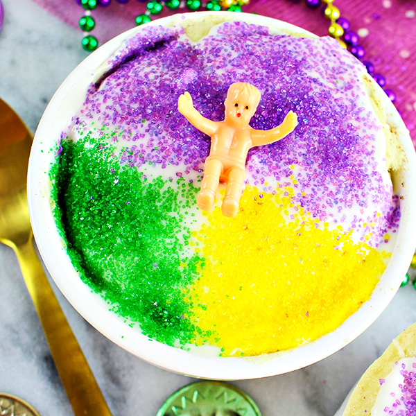 King Cake in a Cup Recipe for Mardi Gras