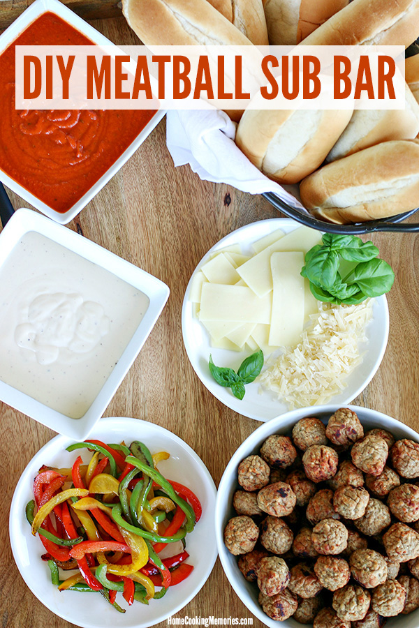 DIY Meatball Sub Bar